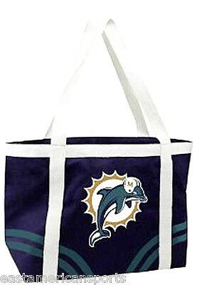 Miami Dolphins NFL Retro Canvas Tailgate Bag Purse Tote Beach Handbag Littlearth Nfl Canvas Tailgate Tote