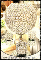 Crystal Ball Centerpieces rentals