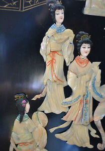 Oriental Wooden Mother Of Pearl Wall Hanging 4 Panels TRADES OK Gatineau Ottawa / Gatineau Area image 3