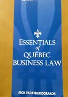 Essentials of Quebec Business Law, 3 edition, 3 edition