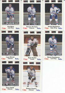1984-85 NOVA SCOTIA OILERS hockey cards ... complete 26 card set City of Halifax Halifax image 4