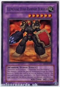 DP1-EN012 Elemental Hero Rampart Blaster Rare Mint YuGiOh Card