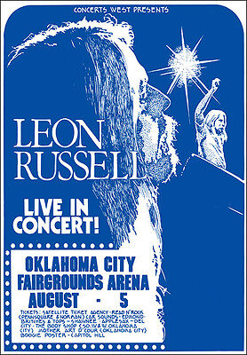 LEON RUSSELL 1972 Oklahoma City Concert Poster