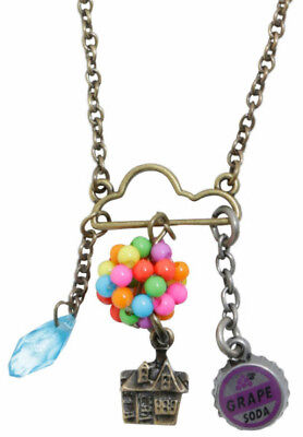 """Licensed Disney """"UP"""" Cloud Cluster Charm Necklace New!"""
