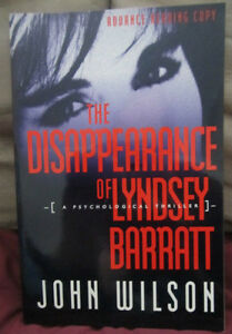 The Disappearance Of Lyndsey Barratt by John Wilson TPB ARC