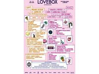 2 x Love box tickets- Saturday