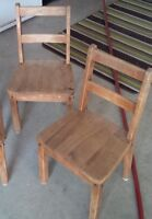 2 wooden school chairs (child size)