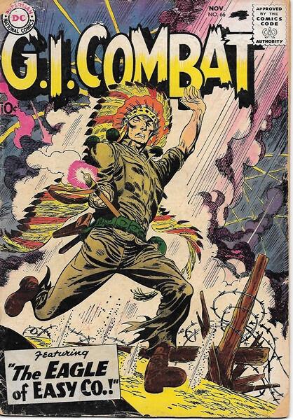 G.I. Combat Comic Book #66, DC Comics 1958 GOOD+