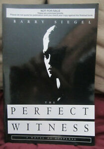The Perfect Witness by Barry Siegel (1998) TPB ARC