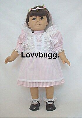 "Lovvbugg Victorian Birthday Dress for 18"" American Girl Samantha Doll Clothes"