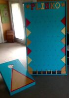 Plinko and Cornhole Toss Game Rental