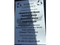 RUBBISH CLEARANCE CHEAPER THEN A SKIP GIVE US A TRY GOOD HARD WORKERS