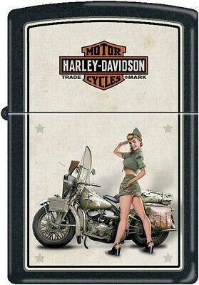 "Zippo ZO9939 Harley US Army Pinup Lighter 2.25""x1.4375"""