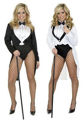 Ringmaster Costume Woman ( WOMENS LADIES SEXY TUXEDO TAILCOAT CABARET CHAPLIN COSTUME CIRCUS)