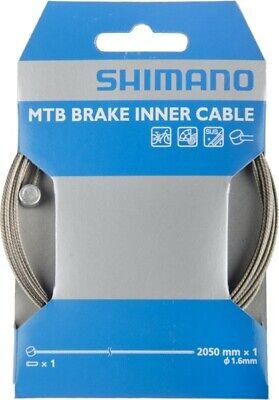 Shimano Cable de Freno Stainless Acero 2050MM MTB, Bicicleta, Plata - Y-80098210