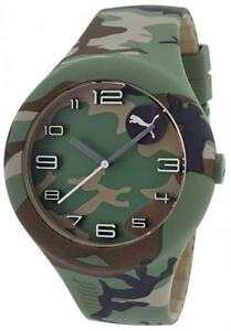 Orologio-PUMA-FORM-XL-PU103211029-Camouflage-Verde-Militare-Mimetico-Oversize