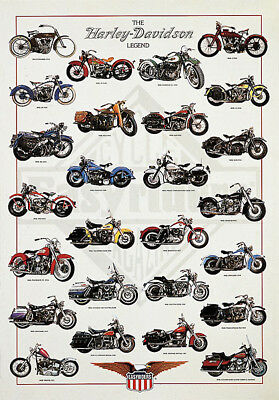 The Harley Davidson Legend by Patrignani Print Poster 24x36 inches