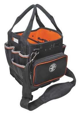 Klein Tools 12 1 4  Electricians Tool Tote  42 Pockets  Black  Orange  554161014