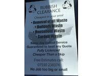 Rubbish clearance cheaper than a skip
