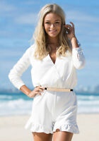 Look Book Store- Glamour White Playsuit