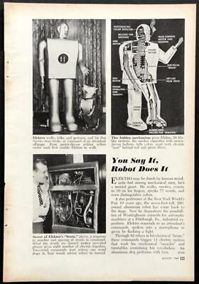 Elektro and Sparko Westinghouse Robot 1949 pictorial