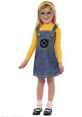 Despicable Me Minion Girls Halloween Costume Set NEW M 8-10 4+ Minion Dress ](Despicable Me Girl Halloween Costumes)
