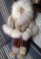 Vintage Handmade Eskimo Inuit Doll