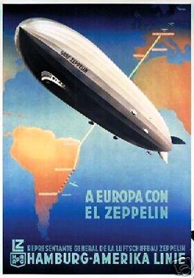 HAPAG Hamburg hist. Aktie 1938 Schifffahrt Luftfahrt Zeppelin Luftschiff Germany