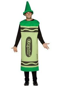 Green Crayon Costume Brand New
