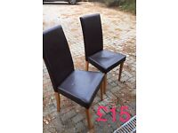 Next faux leather dining chairs