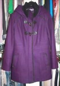 Purple Guess Coat with Hood