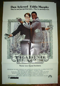 RARE 1983 EDDIE MURPHY DAN AYKROYD TRADING PLACES MOVIE POSTER