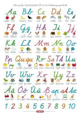 r: Mein großes Schreibschrift-ABC in der Schulausgangsschrift (Lern-poster)