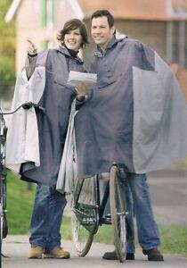 Fahrrad Regenponcho Regencape für Damen und Herren grau Regenumhang Regenmantel