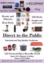 DIRECT TO THE PUBLIC SALES - BEAUTY, SKIN CARE, COOKWARE + MORE Melbourne Region Preview