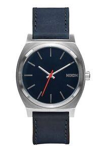 Brand New Nixon Time Teller Navy Leather