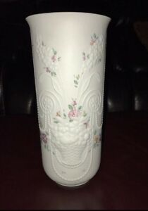 "Kaiser Vase 12"" tall hand painted perfect condition"