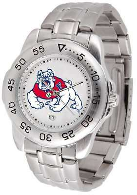 - Fresno State Bulldogs-Sport Steel Mens Watch