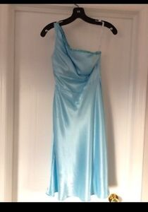 One shoulder satin dress - Size XS