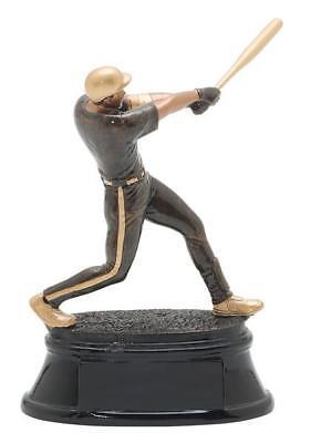 Male Baseball Resin Trophy (9.5″ Power Baseball Resin Trophy (90603GS)-Male Baseball Star Power Resin Trophy )