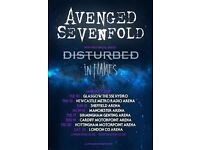 Avenged Sevenfold, Disturbed and In Flames Tickets