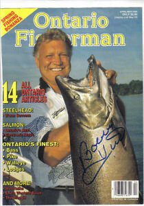 Bobby Hull Autog A Photo On A Mag. Cover London Ontario image 1