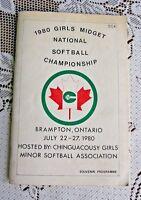 1980 Brampton Souvenir Programme (Midget Girl Nat.S.ball Team)