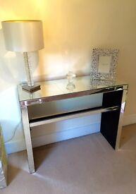 Next mirrored hallway/ dressing table unit