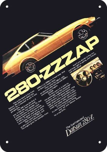 1977 DATSUN 280-Z Sports Car REPLICA METAL SIGN - 280-ZZZAP