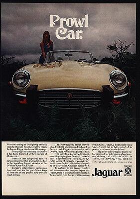 1974 JAGUAR E-Type V-12 Convertible Sports Car - PROWL CAR VINTAGE ADVERTISEMENT