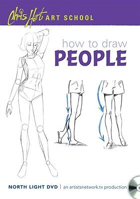 Chris Hart Art School - How to Draw People - Easy Step-by-Step Lessons - DVD