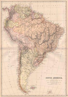 S AMERICA. Patagonia La Plata.Bolivia with Litoral.New Granada/Colombia 1882 map