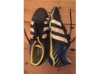 Rugby boots Adidas size 12