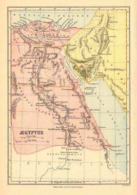 ANCIENT EGYPT. 'Aegyptus'. BARTHOLOMEW 1876 old antique vintage map plan chart